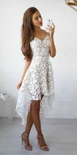 lace homecoming dress white prom dress short prom dresses