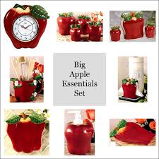 apple home decor accessories red apple kitchen decor kitchen and decor