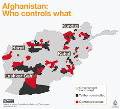 Afghanistan On World Map by Afghanistan Who Controls What Afghanistan Al Jazeera