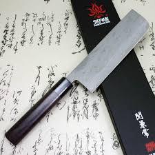 kanetsune japanese sushi chef kitchen knife damascus usuba nakiri