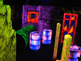 black light attractions does installations for entertainment