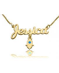 The Name Necklace Hand Of God Name Necklace In 18k Gold Plated The Name Necklace