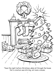 twas the night before christmas coloring pages coloring page for