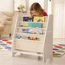 Tiered Bookshelf 5 Level Tier Wooden Childrens Canvas Book Shelf Display Unit