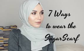 tutorial hijab nabiilabee hijab tutorial 7 ways to wear the sugarscarf youtube