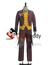 arkham asylum joker coat suit cosplay costume