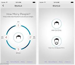 how much is average price for hair cut and color shortcut app brings a barber to a man s home or workplace but it