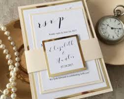 wedding invitations and gold wedding invitations etsy