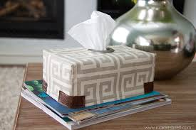 fabric tissue box cover with grommet opening make it and it