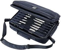 mercer cutlery executive knife case bag holds up to 30 pieces