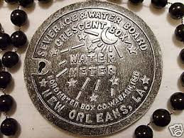 new orleans water meter necklace new orleans sewerage water board meter plate cover