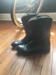 womens black cowboy boots size 9 black leather cowboy boots laredo brand size 9 mens size 10