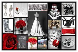 red black u0026 white theme ideas weddings style and decor
