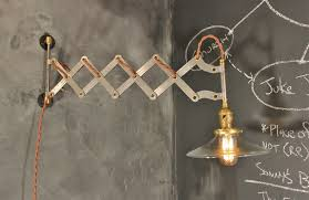 Industrial Wall Sconce Lighting Vintage Industrial Scissor Sconce Expandable Accordion Lamp On