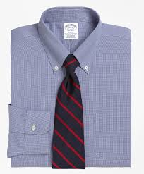 men u0027s non iron slim fit houndstooth dress shirt brooks brothers