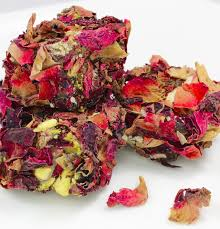 Rose Petals Turkish Delights With Mixed Nuts And Real Rose Petals