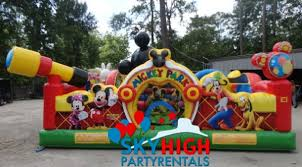 mickey mouse clubhouse bounce house mickey toddler bounce house houston sky high party rentals