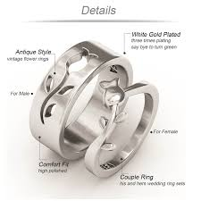 his and hers wedding rings sets evbea his and hers wedding ring sets antique engraved white gold