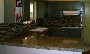 Black Glass Backsplash by Kitchen Granite Tile Countertop And Glass Backsplash