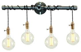 Industrial Bathroom Fixtures Industrial Bathroom Lights 4 Light Vanity Fixture Industrial