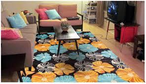 floors u0026 rugs black with floral white blue and orange standard