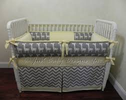 Gray And Yellow Crib Bedding Yellow Crib Bedding Etsy