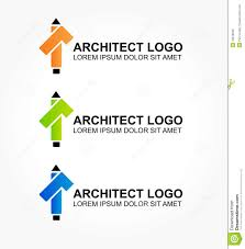 logo for the architect or designer of interiors stock vector