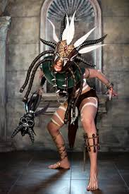 witch doctor and voodoo doll costume witch doctor from diablo iii cosplayer methyl ethyl cosplay