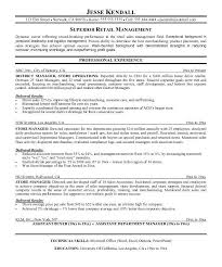 Retail Management Resume Sample by Retail Management Resumes Retail Management Resume Examples And