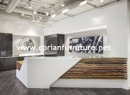 Acrylic Reception Desk Imple Morden Design Acrylic Solid Surface Hi Macs Surfaces Office