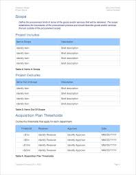 acquisition plan template acquisition plan template apple iwork pages and numbers