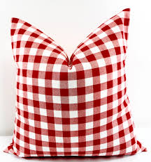 red plaid pillow cover red u0026 white pillow case plaid country