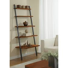 decorating white leaning bookcase leaning bookshelf wall