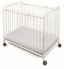Folding Baby Bed Foundations Chelsea Slatted Compact Steel Non Folding Convertible