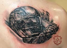 car tattoos race car helmet tattoo done by sean ambrose at arrows and embers