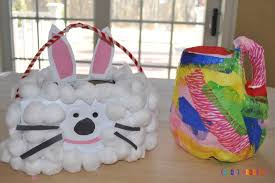 cool easter baskets hoppy kid craft how to make recycled easter baskets cool progeny