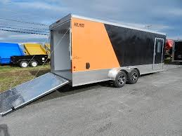 V Nose Enclosed Trailer Cabinets by Carmate 7x20 V Nose Enclosed Motorcycle Trailer Harley Bike Trailer
