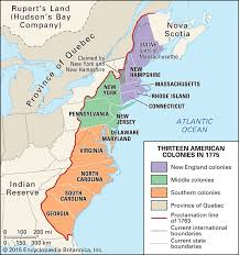The Thirteen Colonies Map Nick Lowe Thinglink