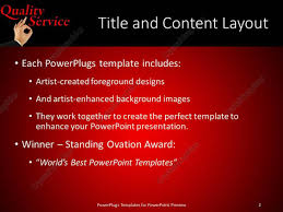 powerpoint template black and red quality customer service