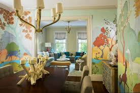 15 rooms that surprise and delight wall mural is a blooming surprise in this dining room