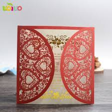 Plain Wedding Invitation Cards Aliexpress Com Buy Fancy White Love Hearts Blank Wedding