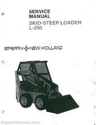 new holland l250 skid steer service manual