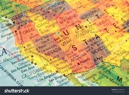 Grand Canyon Map Usa by Map North West Usa Closeup Macro Stock Photo 255428413 Shutterstock