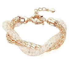 luxury chain bracelet images Charm bracelets chains china luxury design double crystal bracelet jpg