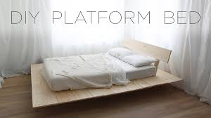 How To Make A Platform Bed Frame With Legs by Diy Platform Bed Modern Diy Furniture Projects From Homemade