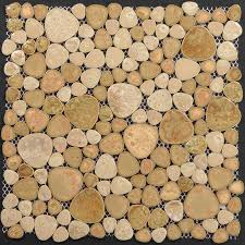 Wholesale Porcelain Pebble Tile Backsplash Collection Mixed Heart - Pebble backsplash