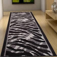 flur teppich läufer brücke flur teppich muster tierfell afrika in grau