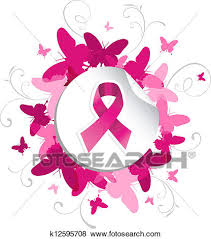 clip of butterfly breast cancer awareness k12595708 search