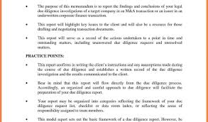 due diligence report example and 3 technical due diligence report
