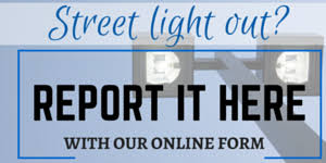 report a street light out report street light outage street signs or street lights